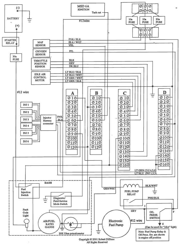 hi doug see the ecm connector drawing and the wiring diagram