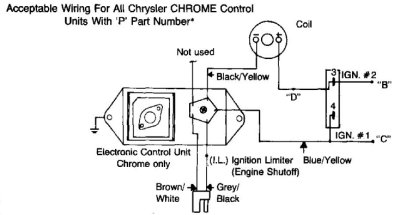 electronic ignition diagram rh slantsix org Ford Ignition Switch Wiring Diagram Chrysler Ignition Module Wiring Diagram